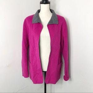 Yansi Fugel Reversible Angora Wool Jacket L